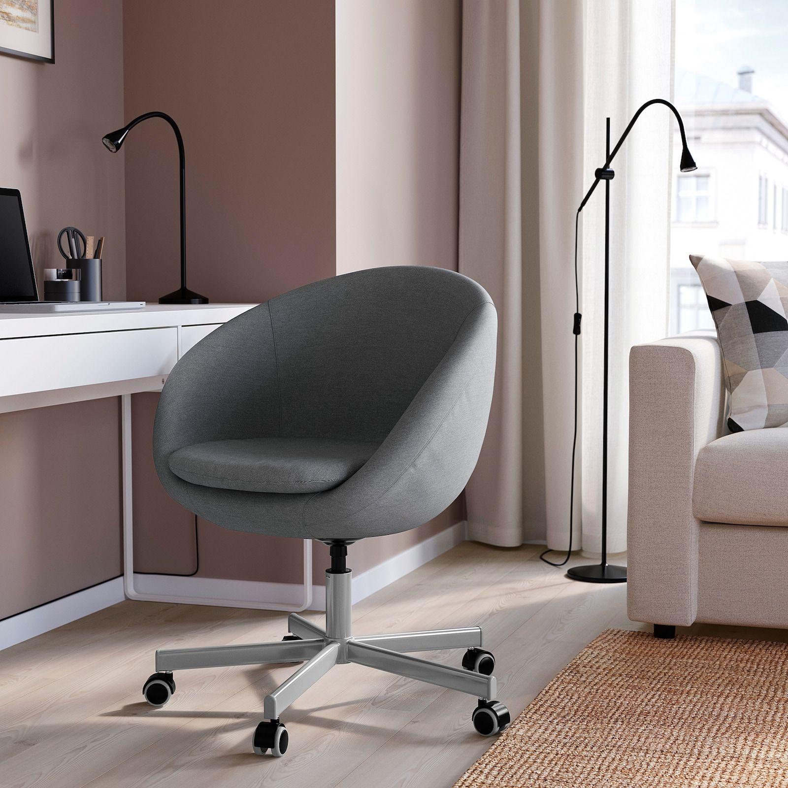 Skruvsta Flackarp Medium Grey Swivel Chair Ikea In 2020 Swivel Chair Chair Comfortable Desk