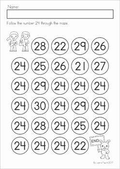 Number Maze 21-40
