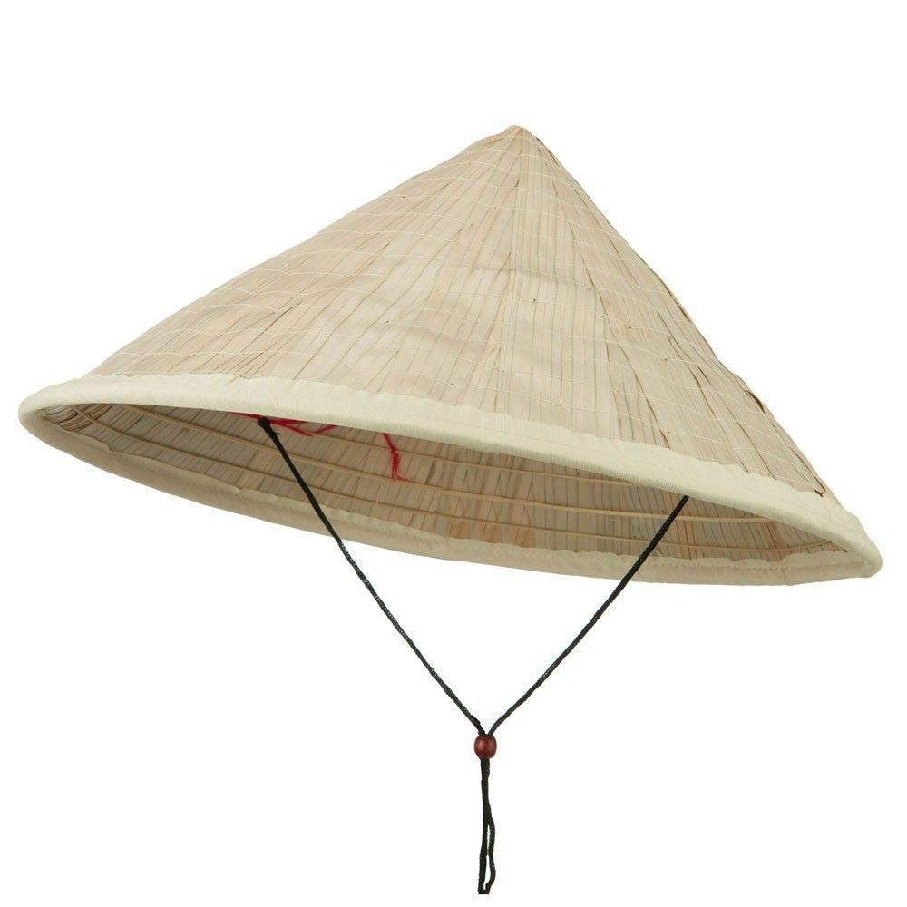 efc065453 Asian Japanese Large Coolie Straw Bamboo Sun Hat Rice Farmer Adult Accessory  #JacobsonHatCompnay #Asian #HalloweenGardening