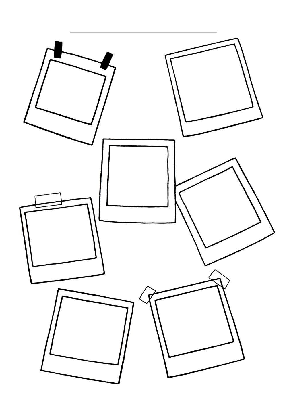 Polaroid Frame Doodles: Bullet Journal Ideas for Self-Care
