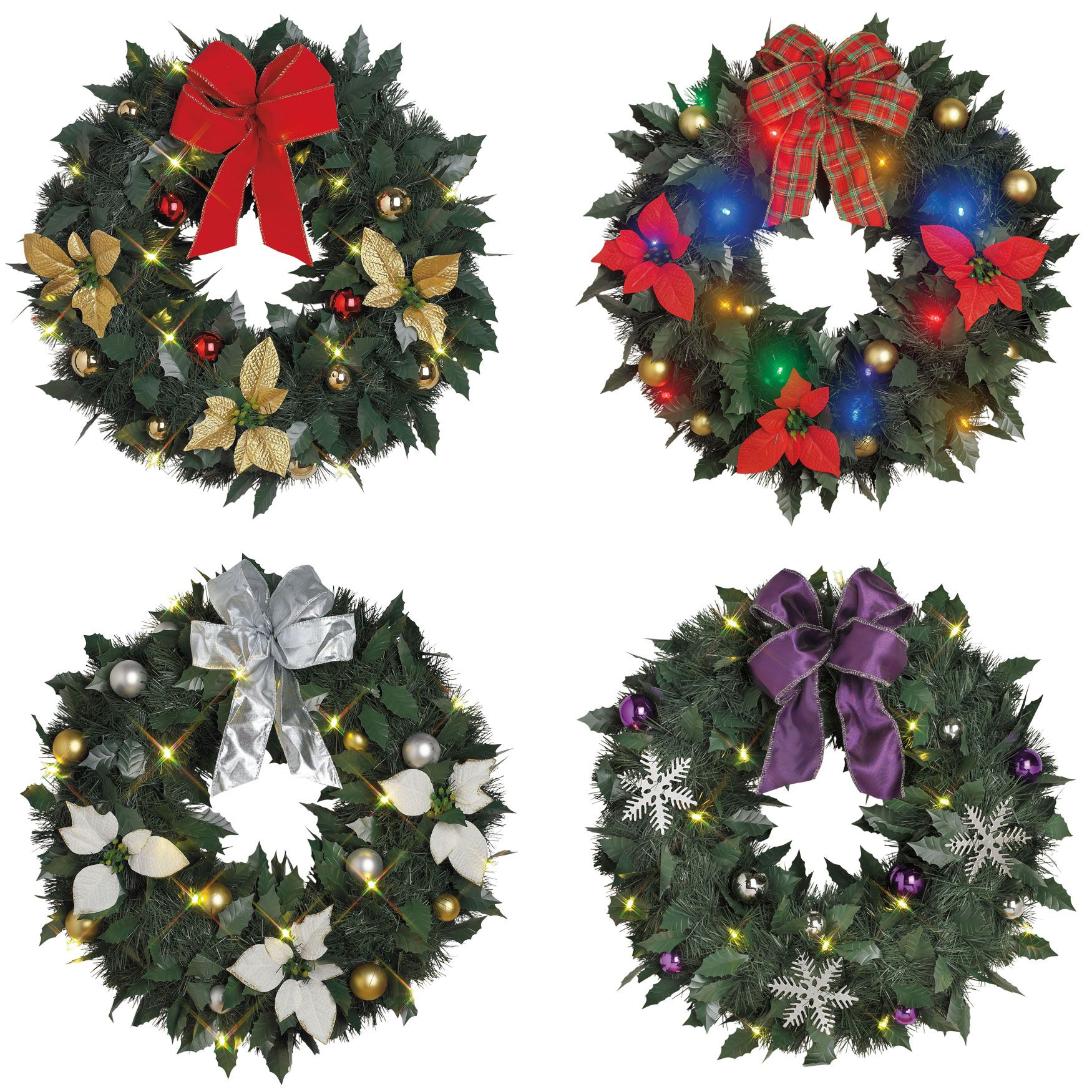 18 cordless led christmas wreaths pre lit and pre decorated our 18
