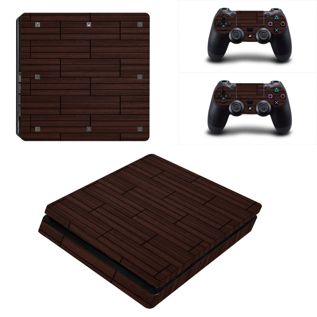 Wooden Design Ps4 Slim Edition Skin Decal For Console And 2