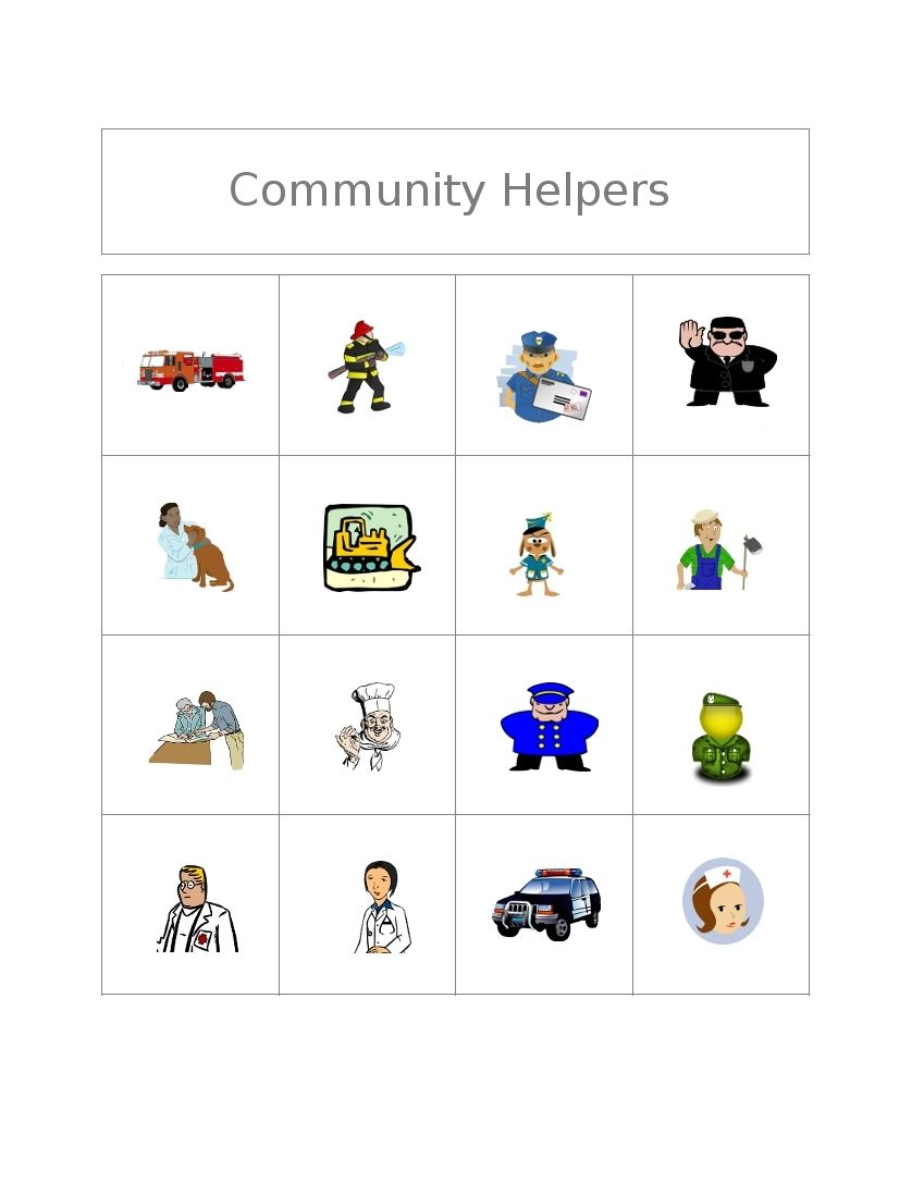 Worksheets Free Community Helpers Worksheets clubhouse academy free bingo game community helpers kinder here are some workers playing boards and call sheet cut out