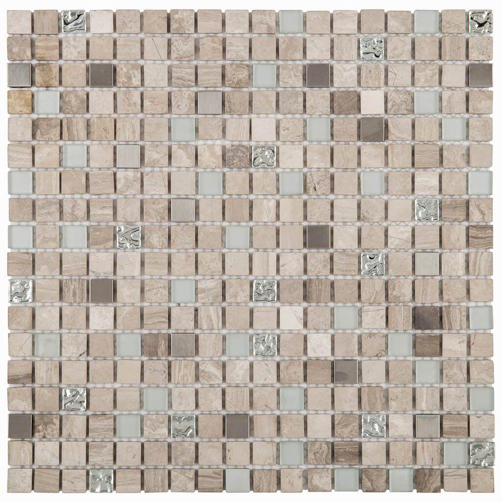 7eb87f8530 Malla Decorativa Tan con mezcla de cristal y piedras naturales tonalidades  bronceadas. Medida (cm