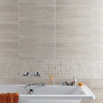 Carrelage sol et mur greige, Eiffel l30 x L604 cm Salle de bain