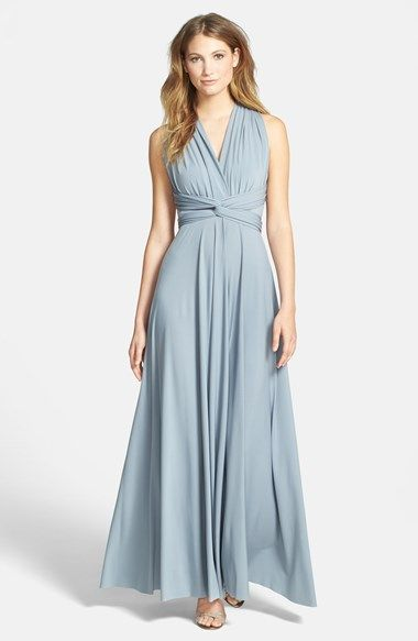 Dessy Collection Convertible Front Twist Jersey Gown