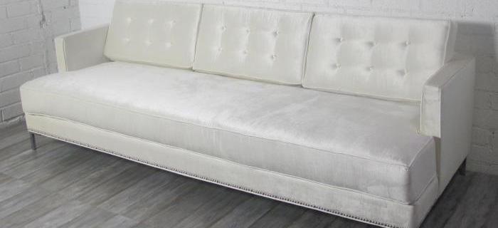 Down With Love Sofa In Off White Shiny Velvet White Velvet Sofa Images Couch