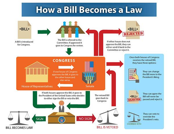 How A Bill Becomes a Law Flowchart on Behance | How to ...