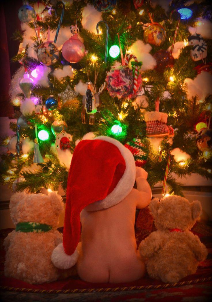 Christmas baby boy photography.