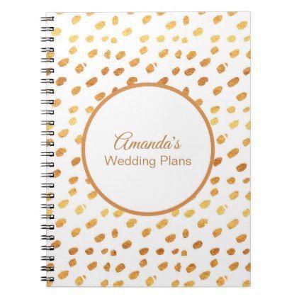 Elegant White and Gold Wedding Plans Journal Pinterest Gold