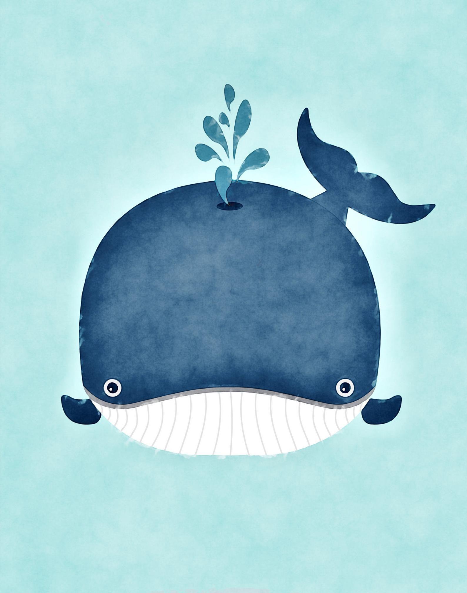 Whale Nursery / Whale Nursery Decor / Whale Print / Whale | Etsy