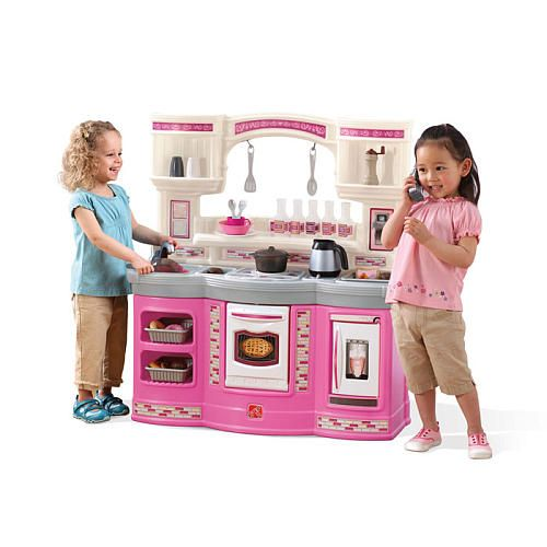 Step2 prepare and share kitchen set pink cora 39 s 2nd for Kitchen set pink