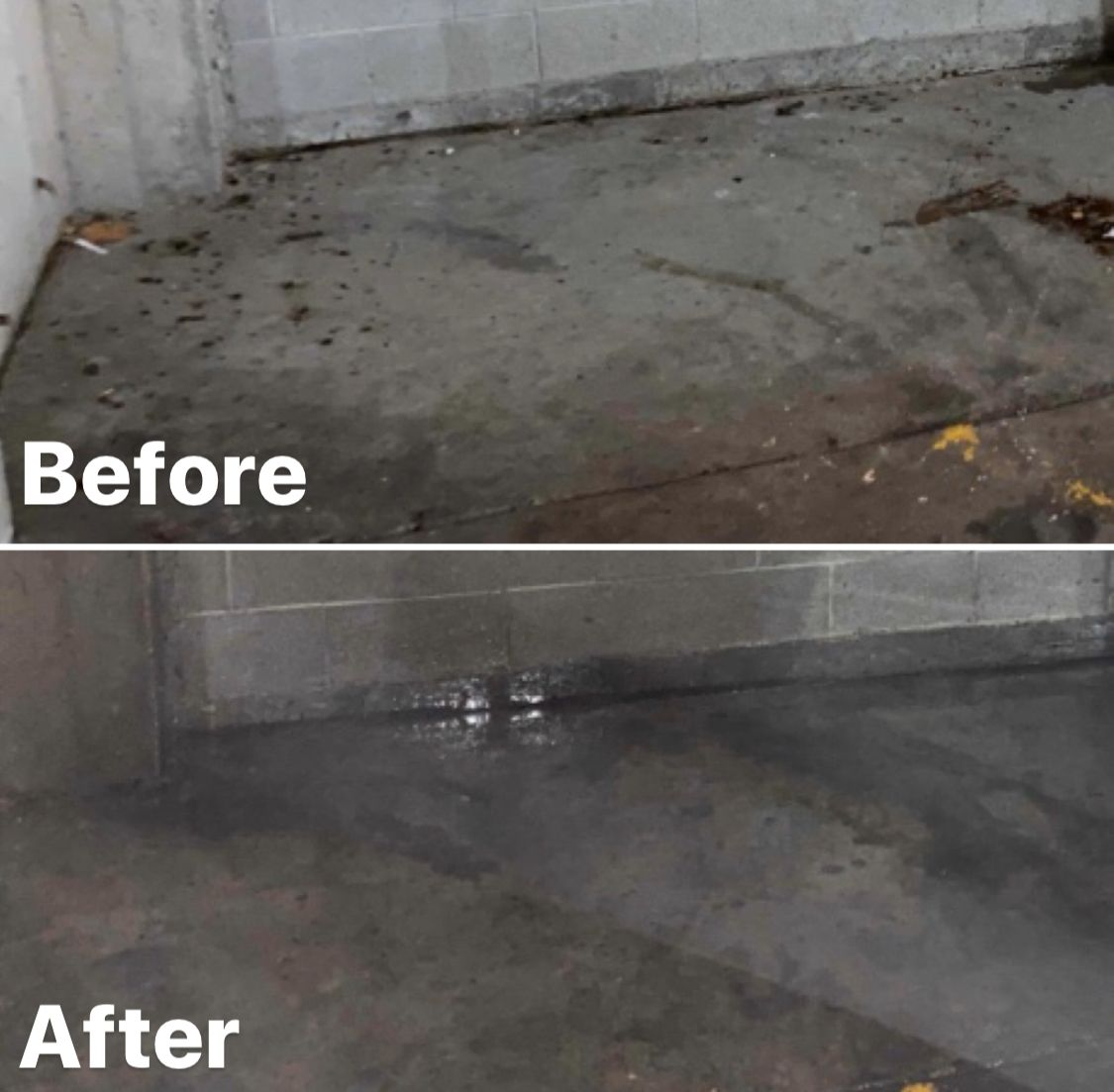 Dumpster cleaning Dumpster area before and after shot