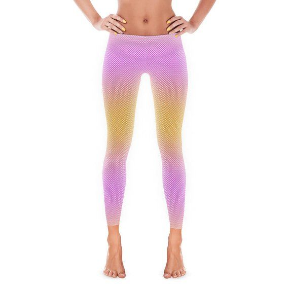 01c5786ca4a33f Women's Leggings - Womens Fun Print Leggings - Mermaid Print - Scales -  Mermaid Pants - Ladies Leggi