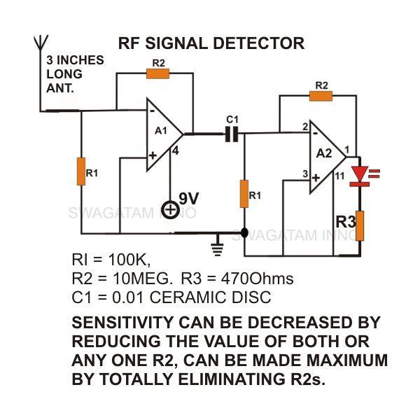 The simple circuit design of a non-contact AC voltage