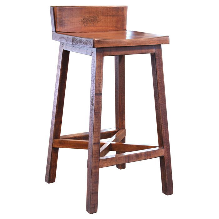 Remarkable Pueblo Distressed Brown 30 Two Tone Bar Stool Kendra Dailytribune Chair Design For Home Dailytribuneorg
