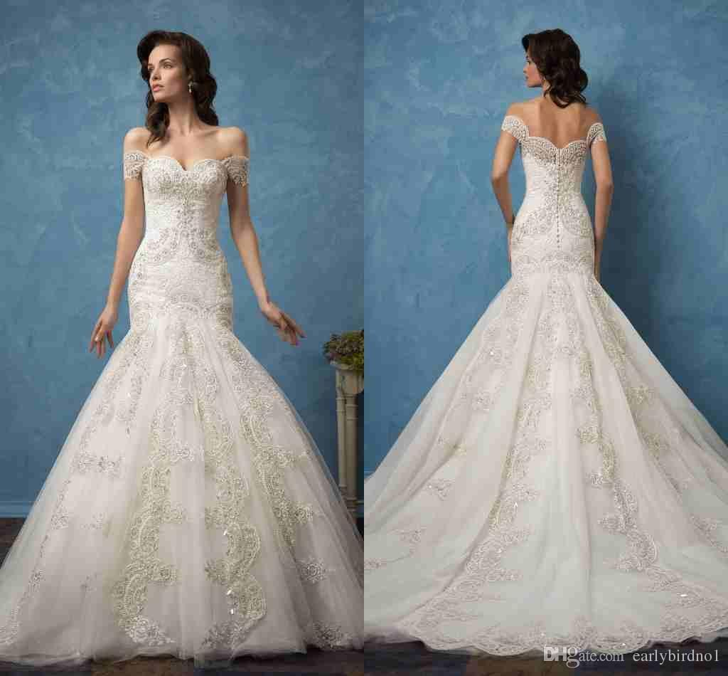 Buy wholesale new amelia sposa 2017 mermaid wedding dresses elegant ...