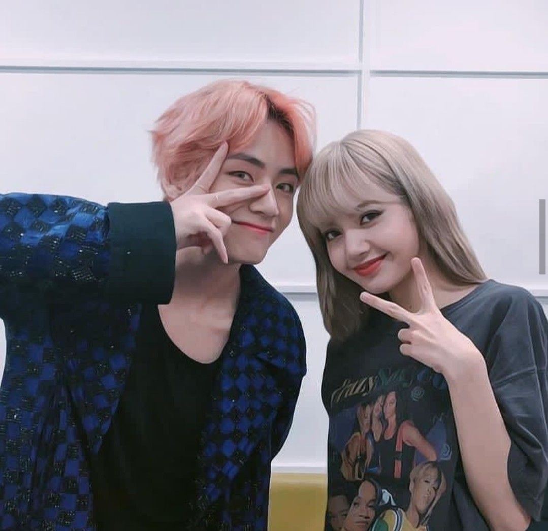 Awesome Bts V And Blackpink Lisa wallpapers to download for free greenvirals