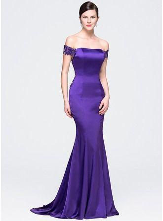 vestido de cetim longo sereia | Madrinhas de casamento | Pinterest