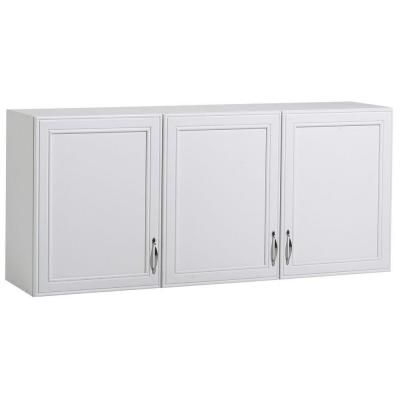 W 3 Shelf Laminate Wall Cabinet In White St102938a The Home Depot