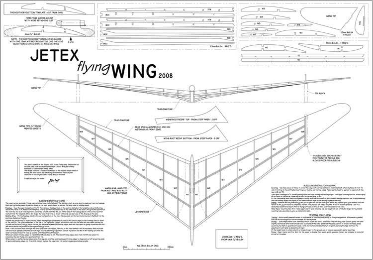 Jetex Flying Wing 2008 Model Airplane Plan Model Airplanes Rc Plane Plans Aircraft Design
