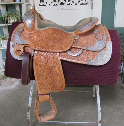 PRICE REDUCED Amazing Custom Bobs Show Saddle for sale in Placer, California, United States of America :: HorseClicks