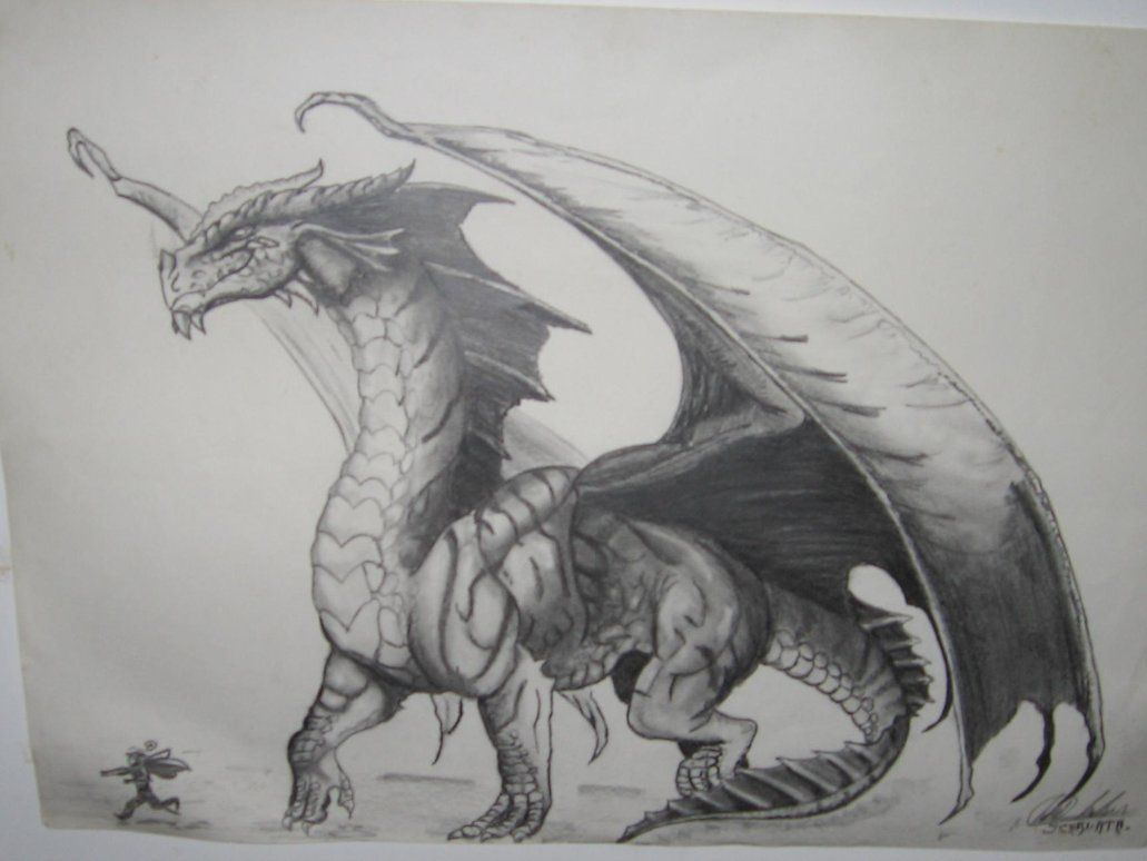 dragon drawings | Red Dragon Drawing by ~BlackMamba12 on ...