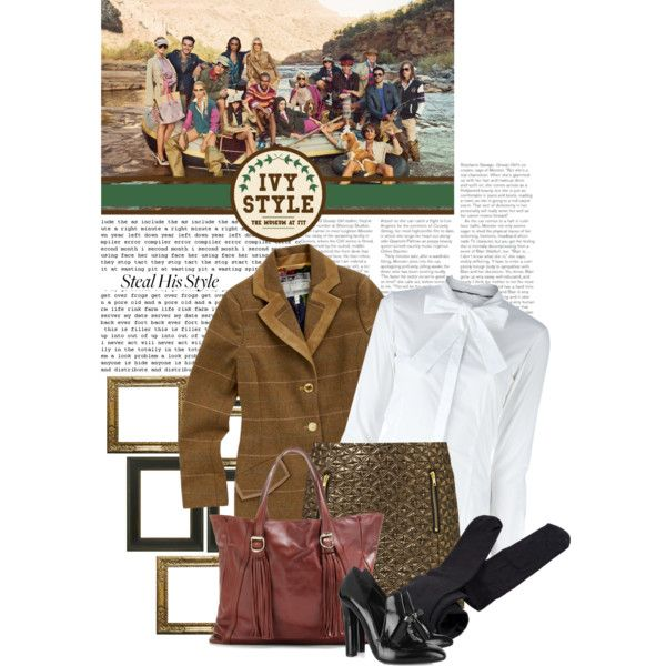 """""""Steal His Style: Ivy League"""" by lenasupernatural on Polyvore--change the black tights and shoes, otherwise perfect"""