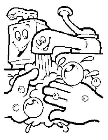 hand washing coloring sheets