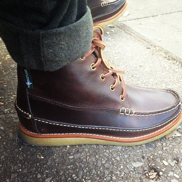 Footwear for the day: Eastland Stonington 1955 Camp Moc Boot