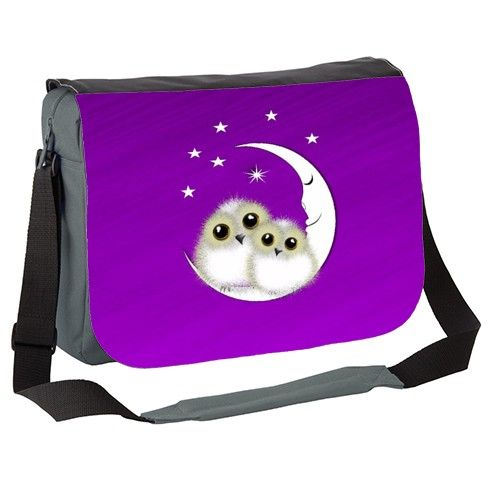 ff51e938fb26 Cute Fluffy Snowy Owls Messenger Bag by designmarketshop at zippi.co ...
