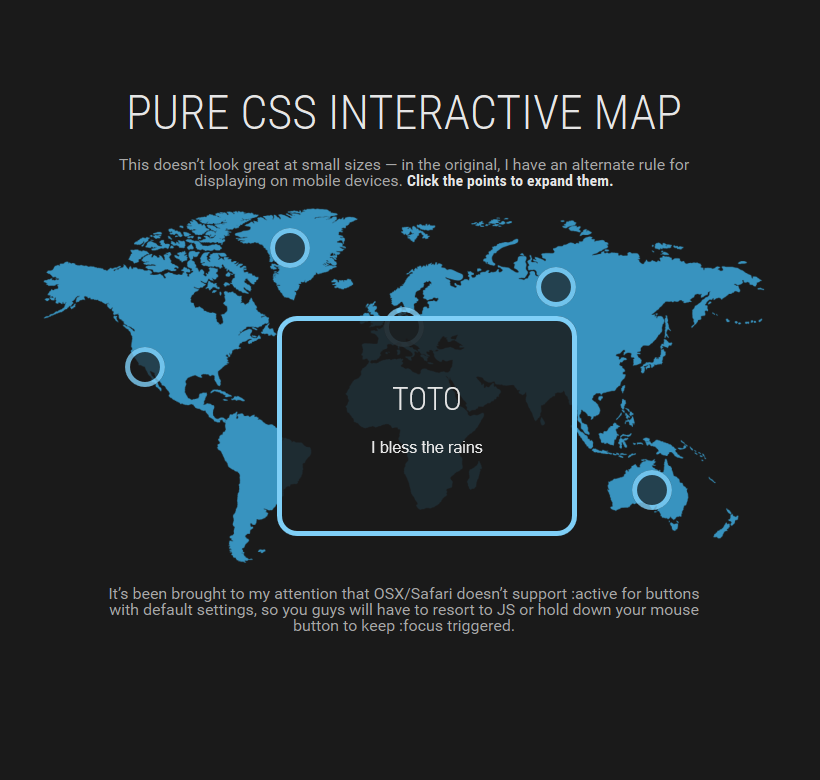 Pure css interactive map code css css3 html html5 this interactive map is built without any scripting at all gumiabroncs Images