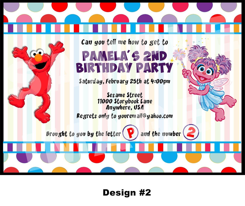 Elmo Invitation Elmo and Abby Cadabby by StorybookLaneCrafts | Elmo ...