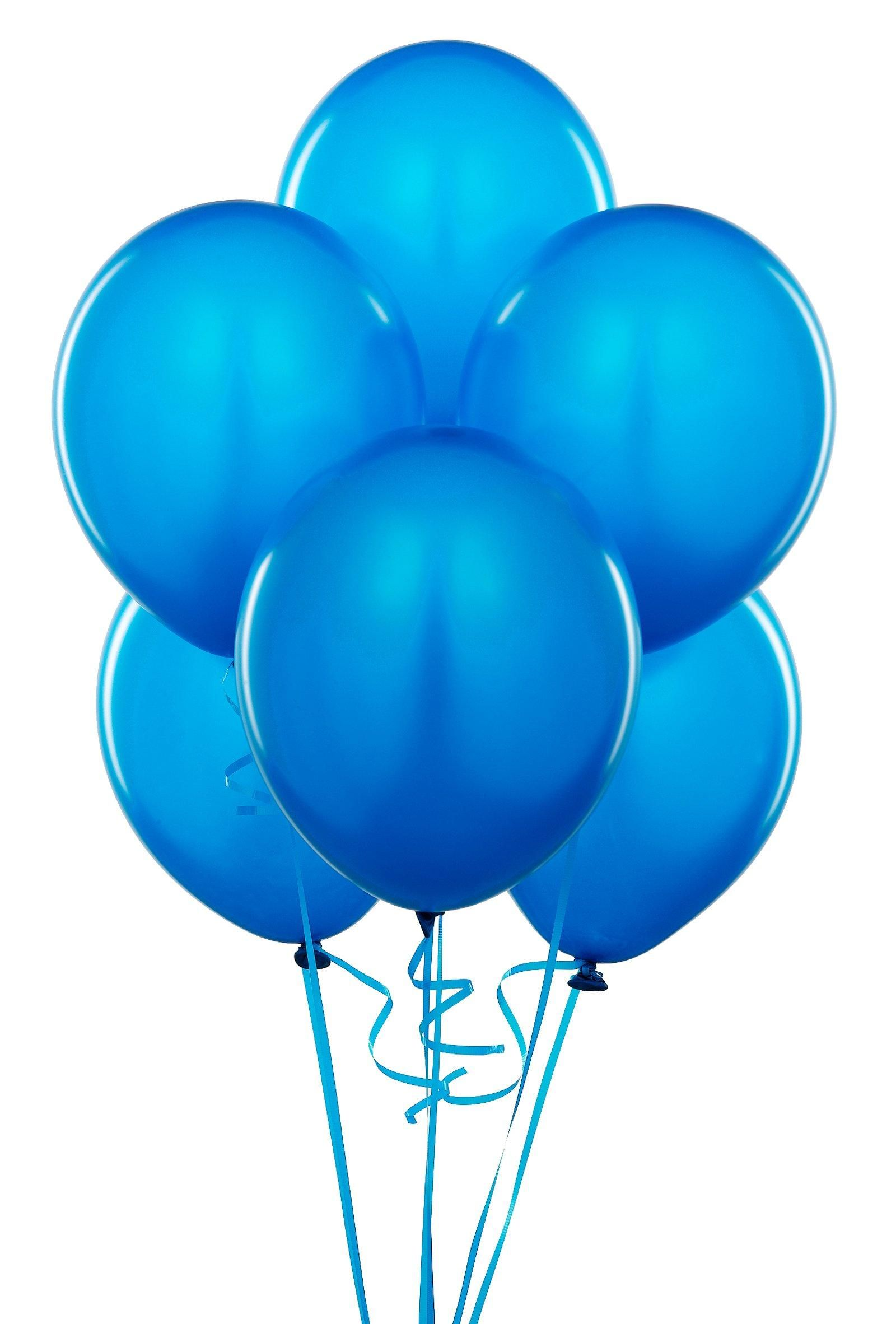 6 Turquoise Large Latex Balloons Wedding Party! Birthday