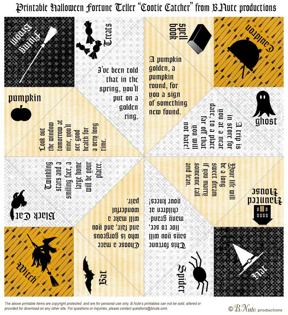 FREE Halloween Party Printables from B.Nute Productions
