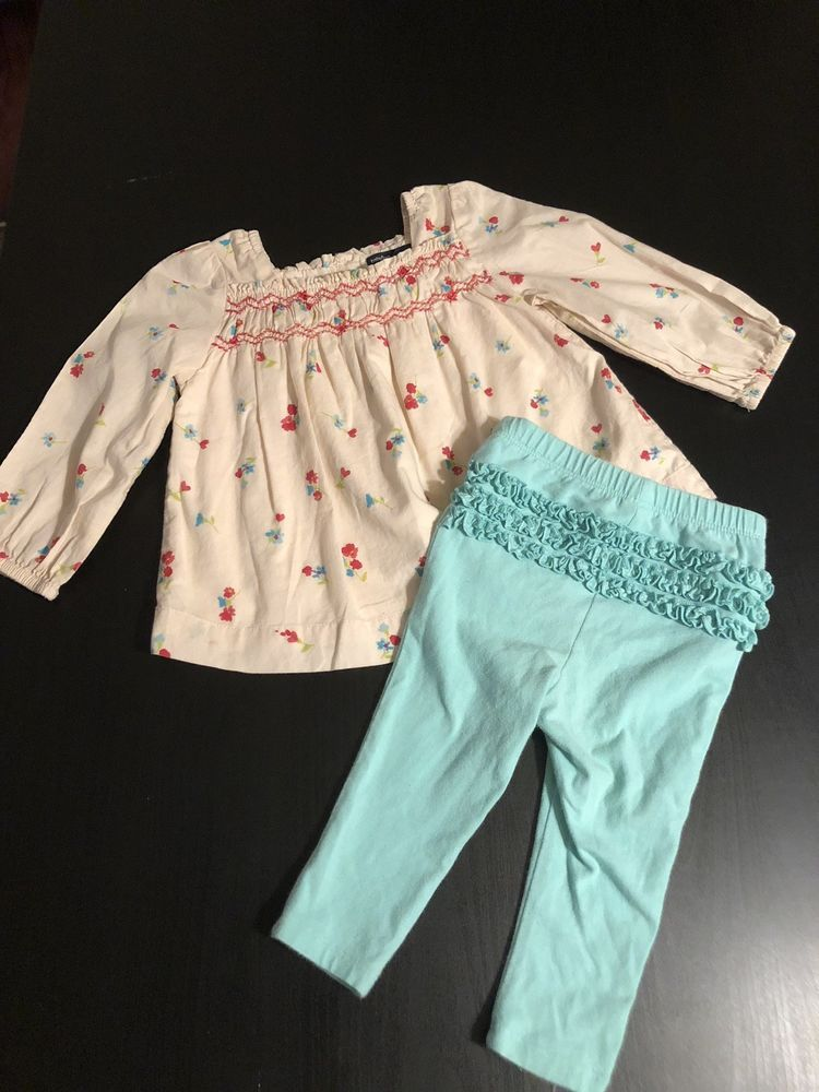 d9280a1ae05 Gap Old Navy 2 Piece Lot Set Bundle 12-18 Months Boho Floral Top Ruffle  Leggings  fashion  clothing  shoes  accessories  babytoddlerclothing ...