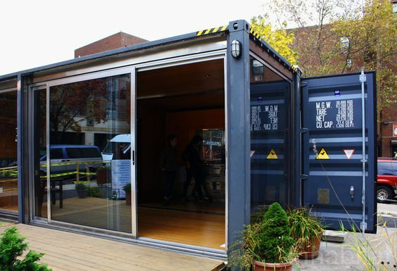 Shipping Container Prefab Home Pops Up in NYC's West Village | Inhabitat - Green Design, Innovation, Architecture, Green Building
