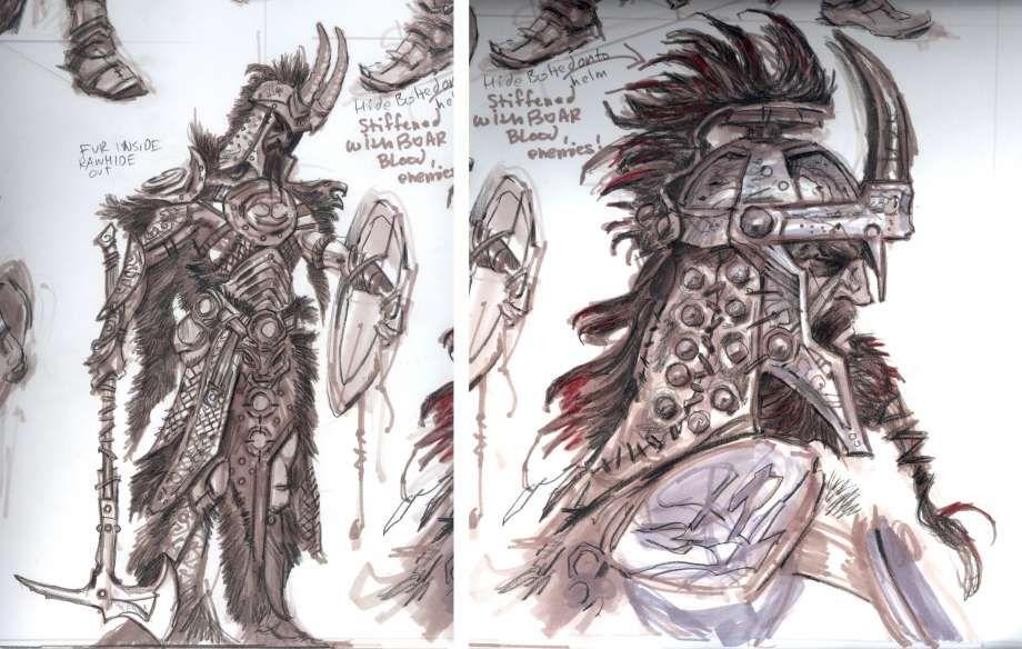 Nord Armor Concept Art From The Elder Scrolls V Skyrim By