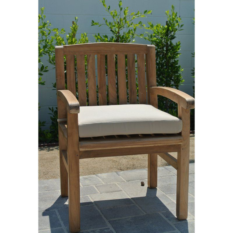 Peachy Willow Creek Huntington Teak Outdoor Dining Chair With Arms Download Free Architecture Designs Scobabritishbridgeorg