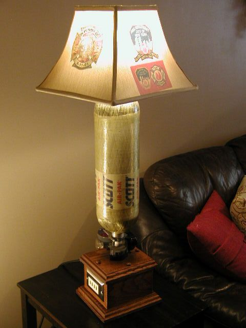 Scba Lamp With Custom Designed Shade This Lamp Features A