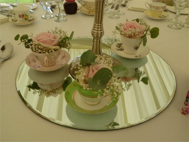 Tea Cup Table Decorations