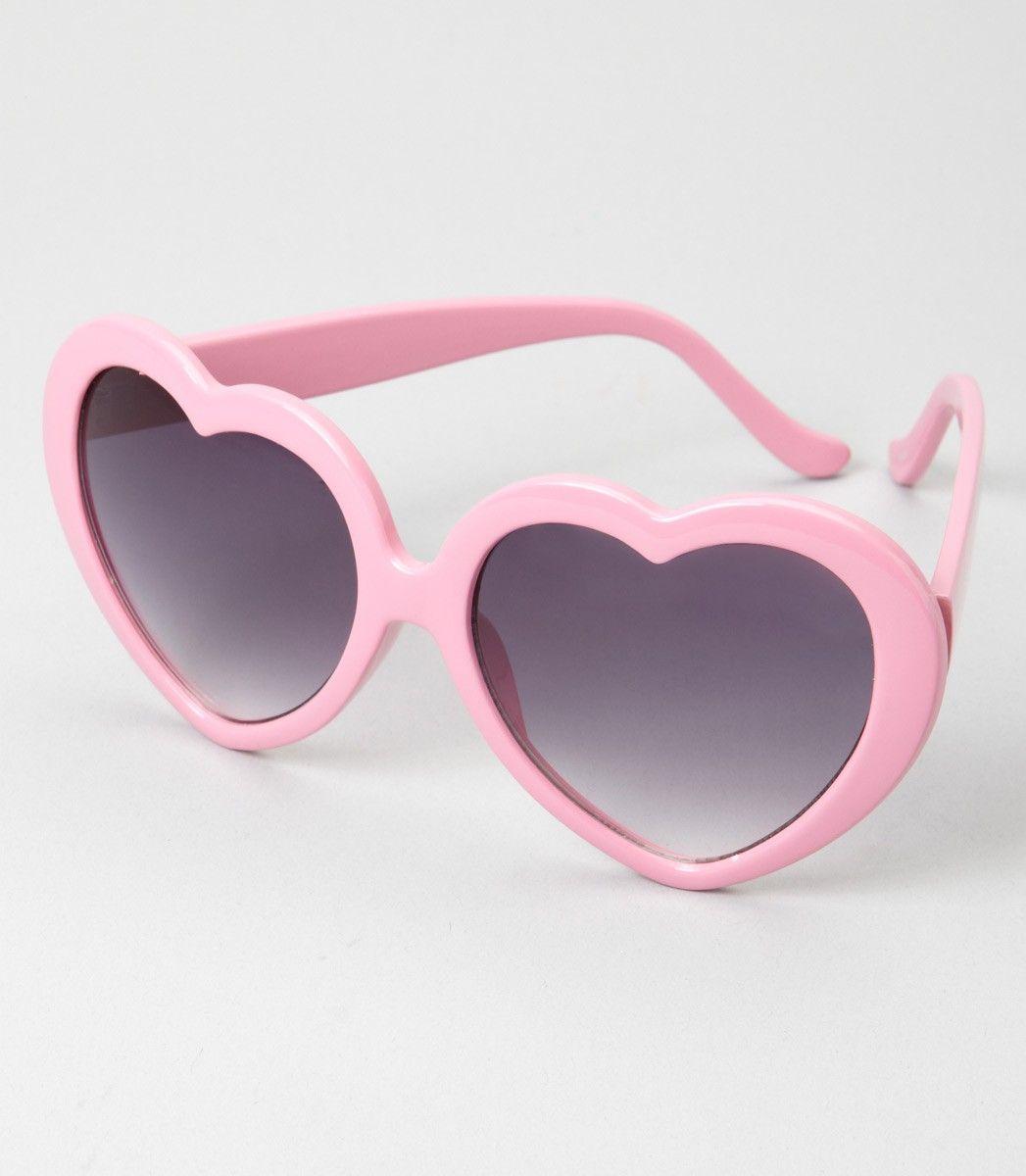 f7cfcb0458 Pink Heart Shaped Sunglasses