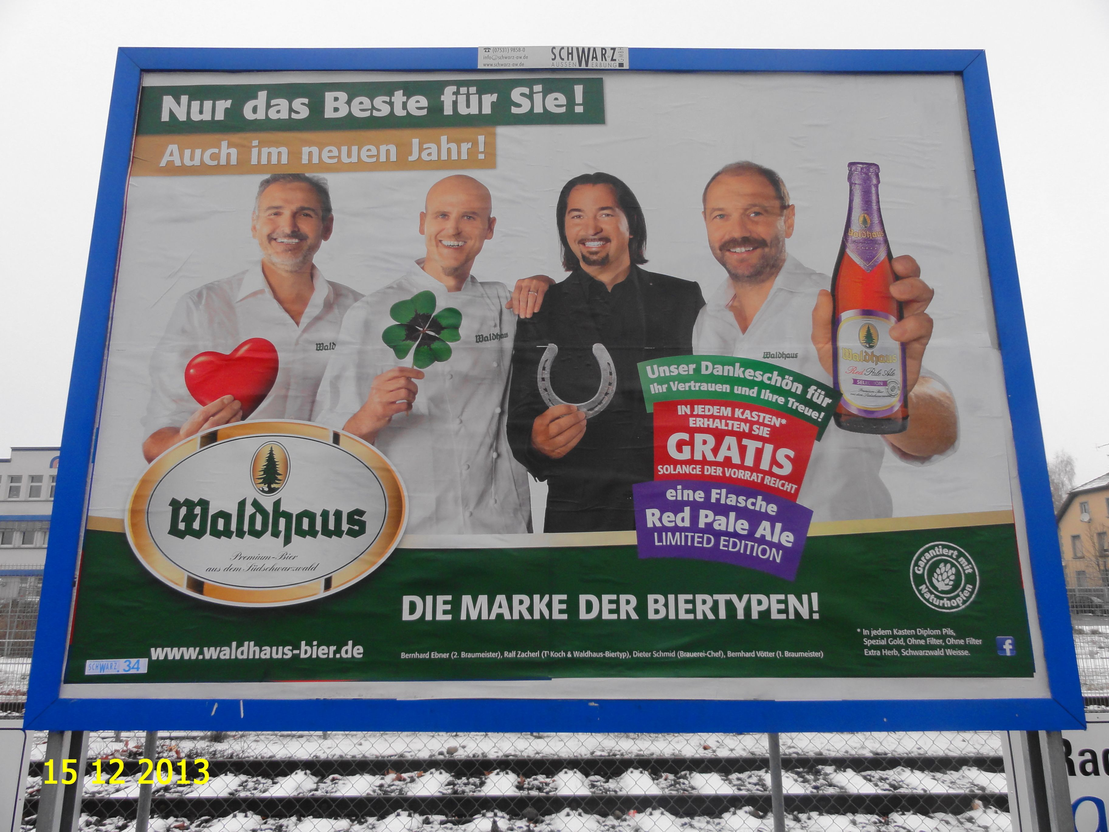 211. - Plakat in Stockach. / 15.12.2013./
