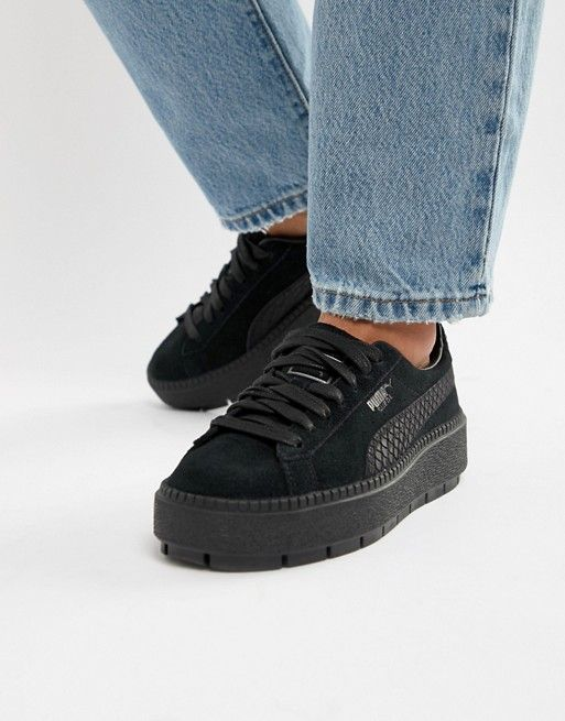 4df9fb5b2 Puma Suede Platform Trace Animal Trainers | Shoes! | Puma suede ...