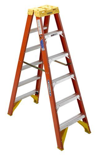 Werner T6206 6 Fiberglass Twin Step Ladder For Sale Step Ladders Ladder Fiberglass