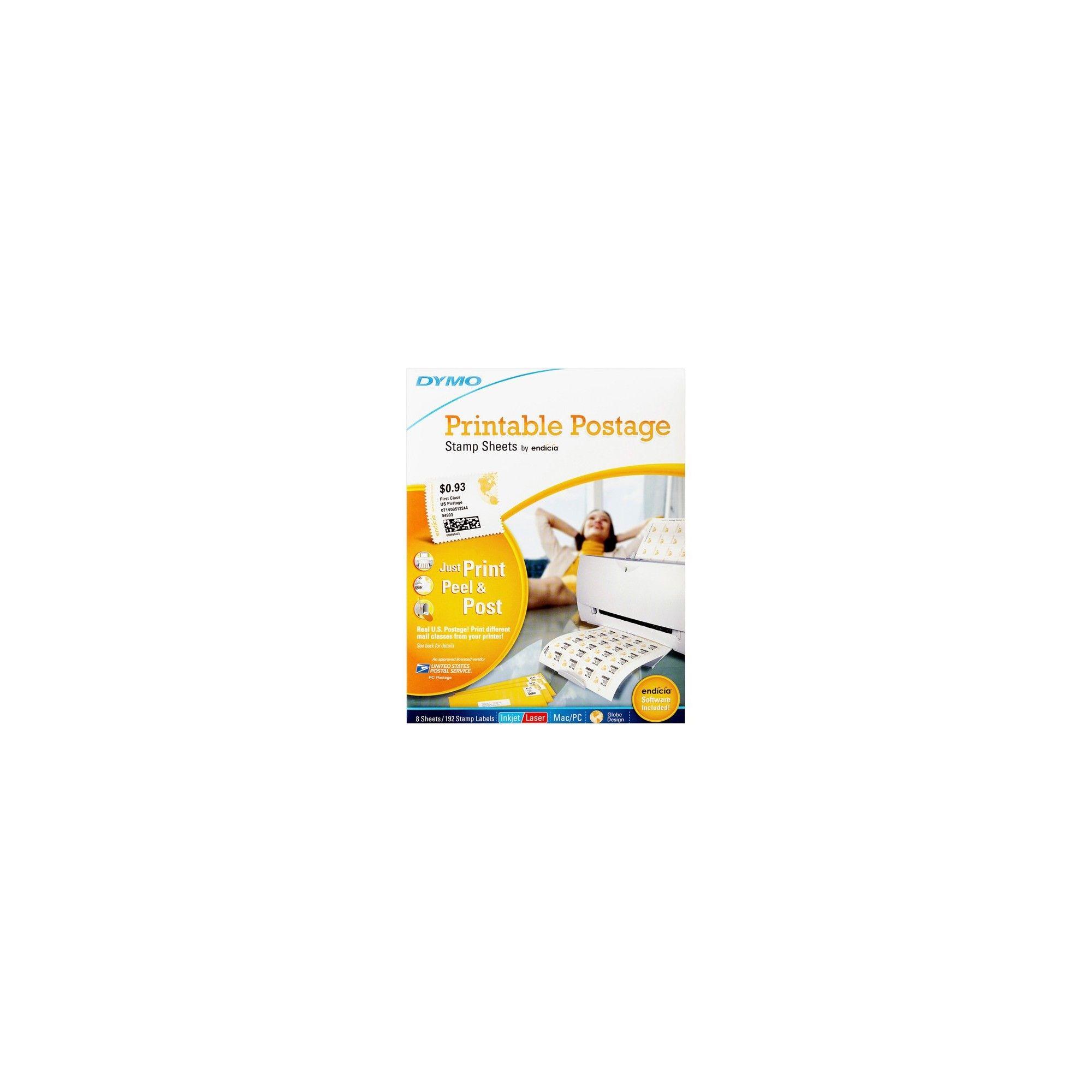 image regarding Dymo Printable Postage called Dymo Printable Postage Stamp Sheets - Laser, Inkjet - White