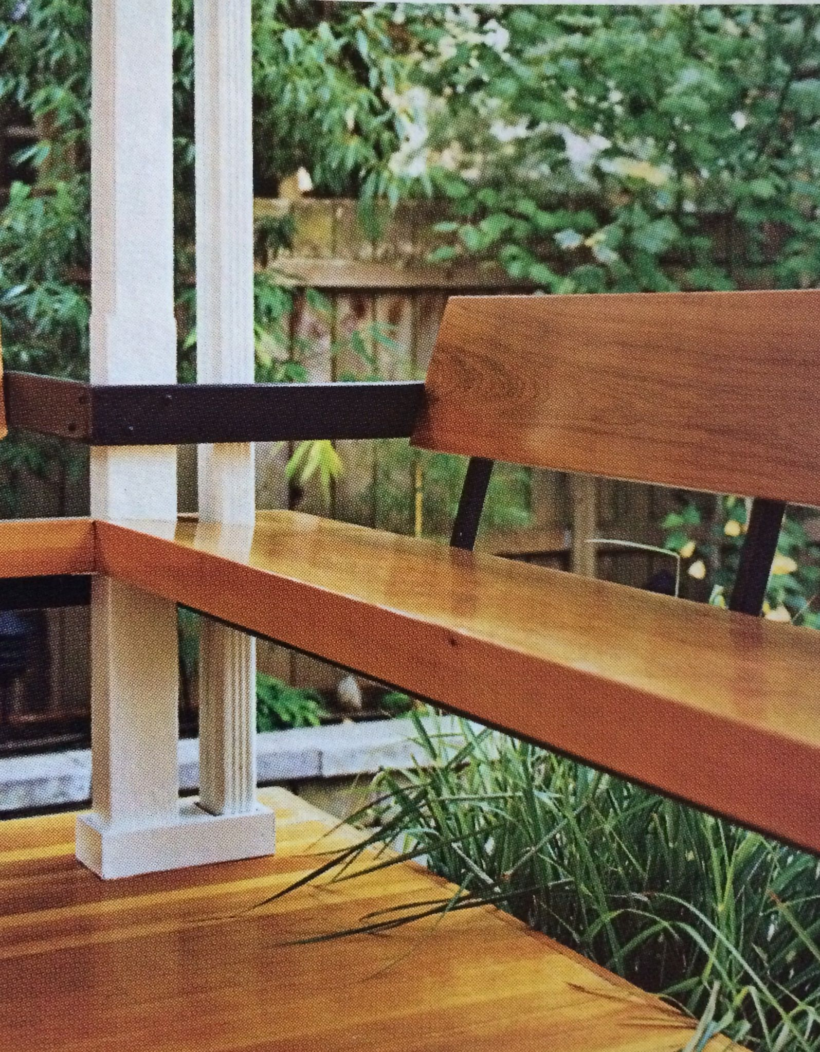 Awesome Close Up Of Built In Porch Seating Dwell Within Porch Gmtry Best Dining Table And Chair Ideas Images Gmtryco