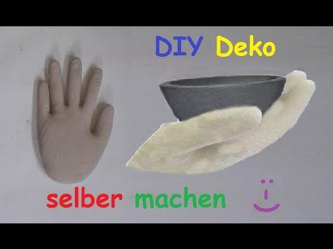 Diy Deko Hand Aus Beton Oder Gips Mit Latexhandschuh Selber Machen