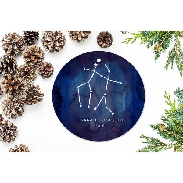 Zodiac Sign Christmas Ornament Stars Astrology Gift Gemini ($18) ❤ liked on Polyvore featuring home, home decor, holiday decorations, grey, home & living, home décor, ornaments & accents, holiday ornament, holiday wrapping paper and personalized wrapping paper