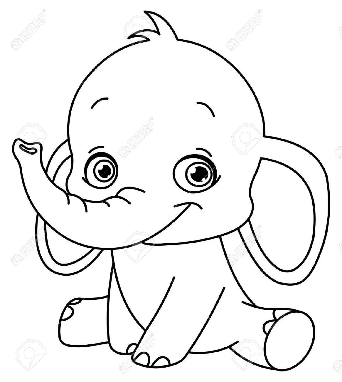 cartoon drawing of elephant - Google Search | Ideas pacthwork ...